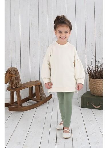 Nila Kids Koyu Yeşil Rengi Organik Kız Bebek Tayt NK013000KY (3 AY- 5 YAş) Renkli